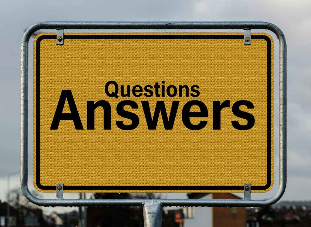 "Sign ""Questions Answers""."